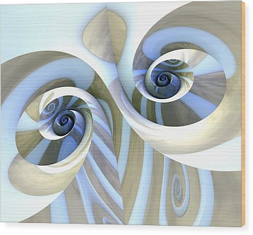 Multi-swirl Wood Print by Kevin Trow