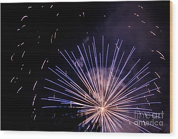 Multicolor Explosion Wood Print by Suzanne Luft