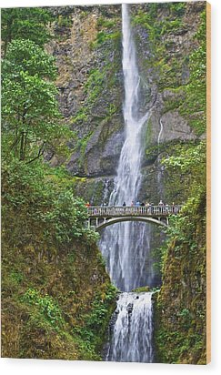 Multnomah Falls 4 Wood Print