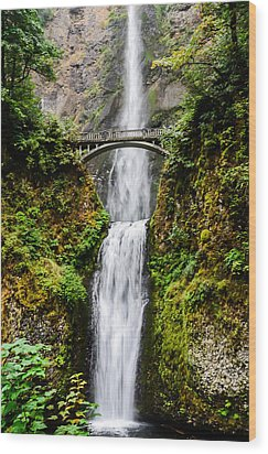 Multnomah Falls Oregon Waterfalls Wood Print by Puget  Exposure