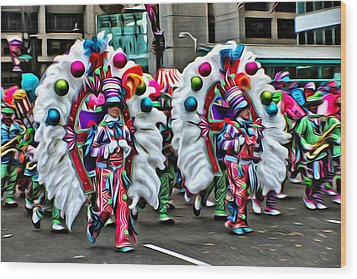 Mummer Color Wood Print by Alice Gipson