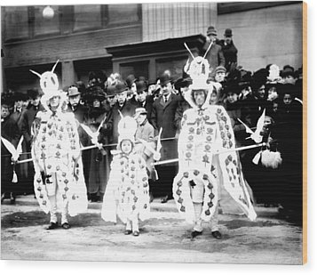 Mummers Circa 1909 Wood Print by Bill Cannon