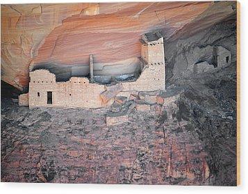 Mummy Cave Ruin Canyon Del Muerto Wood Print by Christine Till