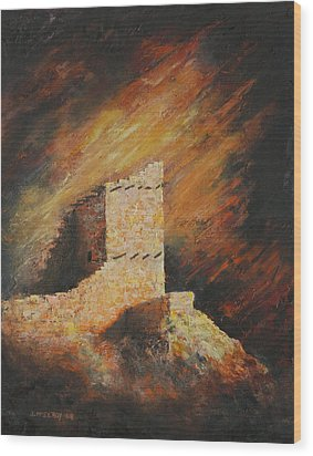 Mummy Cave Ruins 2 Wood Print by Jerry McElroy