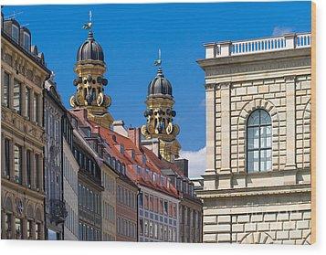 Munich Wood Print by Juergen Klust