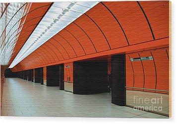 Munich Subway IIi Wood Print by Hannes Cmarits