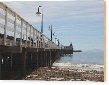 Municipal Wharf At The Santa Cruz Beach Boardwalk California 5d23768 Wood Print by Wingsdomain Art and Photography