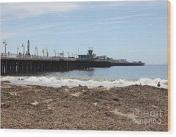 Municipal Wharf At The Santa Cruz Beach Boardwalk California 5d23769 Wood Print by Wingsdomain Art and Photography