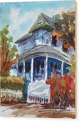 Munzesheimer Manor B B Mineola Tx Wood Print by Ron Stephens