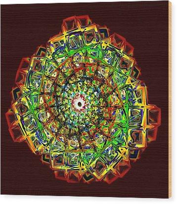 Murano Glass - Red Wood Print by Anastasiya Malakhova