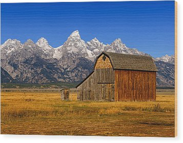Murphy Barn Wood Print by Greg Norrell