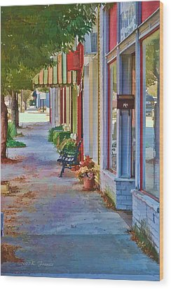 Murphy Nc Sidewalk Wood Print by Kenny Francis