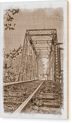 Murphy Trestle Wood Print by Debra and Dave Vanderlaan