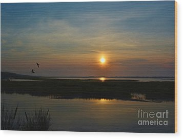 Murrells Inlet Sunrise Wood Print