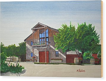 Murrietas Well Winery Wood Print by Mike Robles