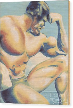Muscle Beach Wood Print