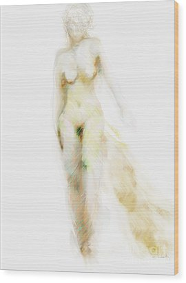 Muse Wood Print by Gabrielle Schertz