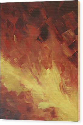 Muse In The Fire 2 Wood Print by Sharon Cummings