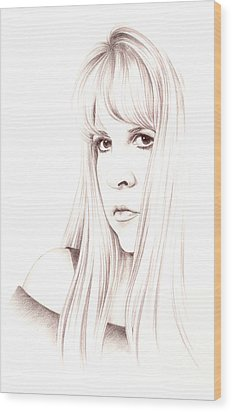 Muse Wood Print by Johanna Pieterman