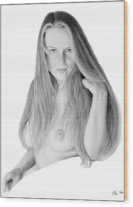 Wood Print featuring the pastel Muse by Joseph Ogle