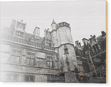 Musee De Cluny When The World Was Flat Wood Print by Evie Carrier