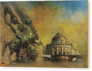Museum Island Wood Print by Catf