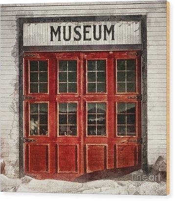 Museum Wood Print by Priska Wettstein