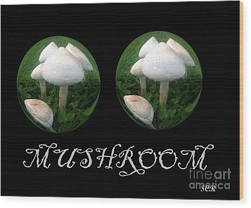 Mushroom Art Collection 3 By Saribelle Rodriguez Wood Print by Saribelle Rodriguez
