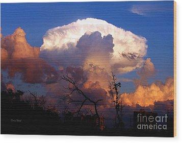 Mushroom Cloud At Sunset Wood Print by Doris Wood