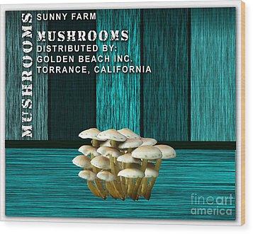 Mushroom Farm Wood Print