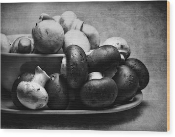 Mushroom Still Life Wood Print by Tom Mc Nemar