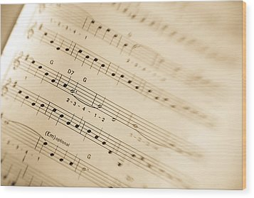 Music Wood Print by Alexey Stiop