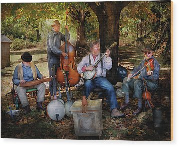 Music Band - The Bands Back Together Again  Wood Print by Mike Savad