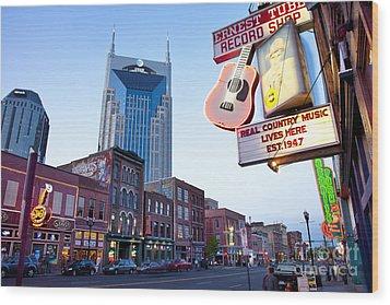 Music City Usa Wood Print