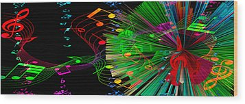 Music Colors The World 3 Wood Print by Angelina Vick