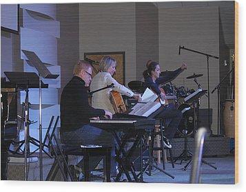 Music In Church Wood Print by Carolyn Ricks