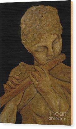 Music In Stone Wood Print by Nancy Bradley