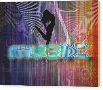 Music Wood Print by John Swartz