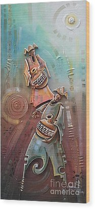 Music Makers Wood Print by Omidiran Gbolade