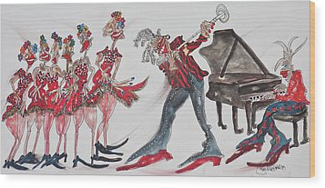 Music Moves The Groove Wood Print by Suzanne Macdonald
