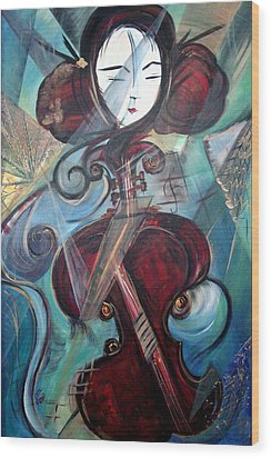 Music Of My Life Wood Print by Dorothy Maier