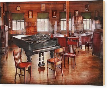 Music - Piano - The Grand Piano Wood Print by Mike Savad