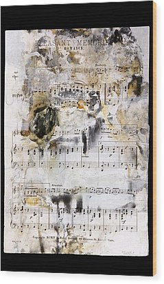 Music Score From The Titanic Wood Print by Science Photo Library