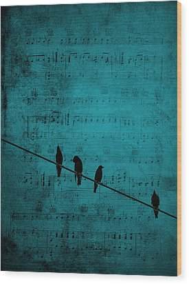 Music Soothes The Soul Wood Print