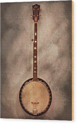 Music - String - Banjo  Wood Print by Mike Savad