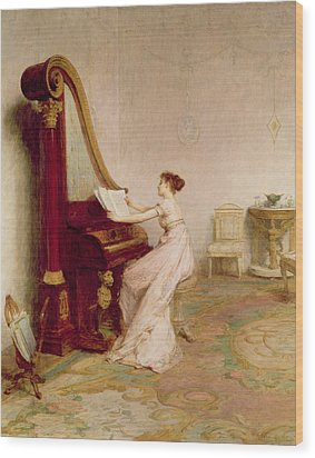 Music When Soft Voices Die, Vibrates Wood Print by Sir William Quiller Orchardson