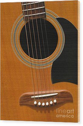 Wood Print featuring the photograph Musical Abstraction by Ann Horn