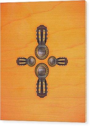 Musical Cross Wood Print by Doron Mafdoos