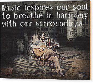 Musical Inspiration Wood Print by Melanie Lankford Photography