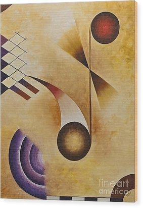 Musical Journey Iv Wood Print by Teri Brown